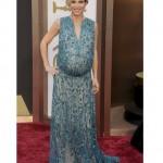 Istri Christ Hemsworth, Elisa pataky tampil dengan gaun biru dengan hiasan yang memukau karya Elie Saab.