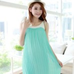 EBH140615 Dress Maternity Chiffon Plisked