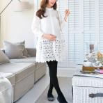 EBH021115 Pregnant Cotton Lace Shirt