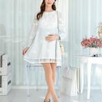 EBH171115 Pregnant  Dress shirt A word version