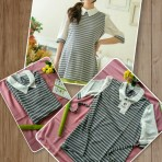EBH181115 Striped Shirt Pregnant
