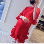 EBH160516 Maternity Chiffon Dress