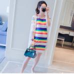 EBH050616 Striped Skirt Pregnant
