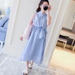 EBH100616 Stripes Slim Sleeveless Dress