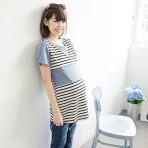 Open PO 3 – Striped Shirt Collar Shape Breasfeeding