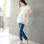 EBH180816 Breastfeeding Chiffon Blouse