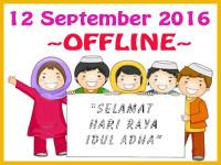 OFFLINE HARI RAYA IDUL ADHA (12 SEPTEMBER 2016)