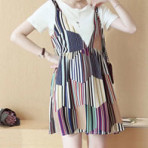 EBH220916 Slim Striped Maternity Dress