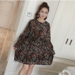 EBH030117 Pregnant Dress Chiffon Skirt