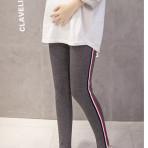 EBH210117  Leggings Cotton Pregnant Belly Pants (Dark Gray)