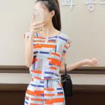 EBH020417 Set Baju Menyusui & Celana Pendek Casual